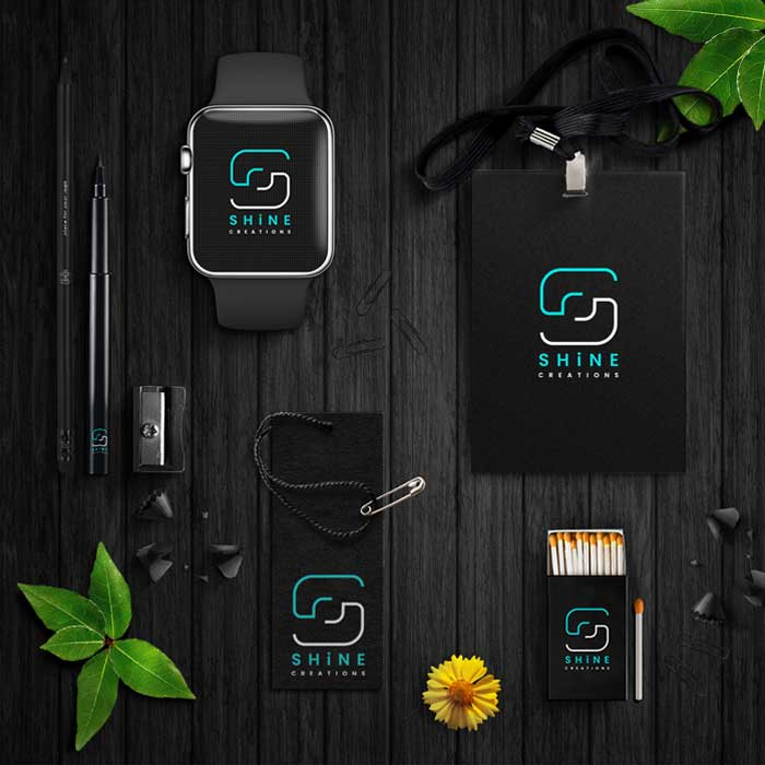 Vibrand Digital Solutions- Digital Marketing-SHINE CREATIONS-Logo design-graphic design