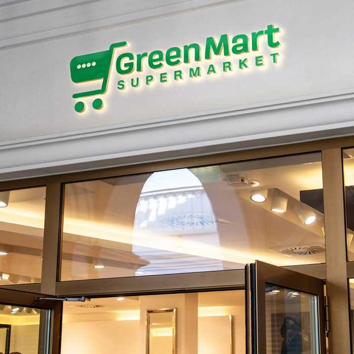 Vibrand Digital Solutions-Digital marketing-GreenMart-logo design-Graphic design